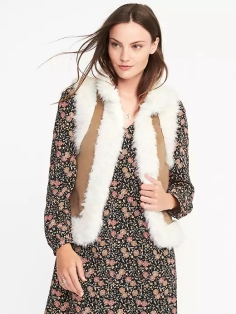 Old Navy Faux-Fur Shearling Vest for Women